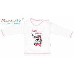 Tričko/košilka dlouhý rukáv Mamatti - PANDA - bílé