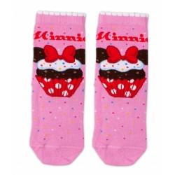 Bavlněné ponožky Disney Minnie Cupcake  - tm. růžové