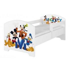 BabyBoo Dětská postel Disney - Mickey s kamarády - bílá, s matrací