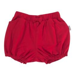 Kojenecké bavlněné kalhotky, kraťásky s mašlí Mamatti Love Girl - červené
