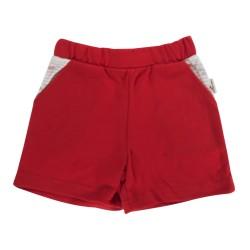 Kojenecké bavlněné kalhotky, kraťásky Mamatti Pirát - červené