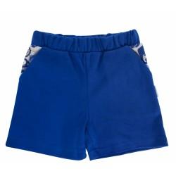 Kojenecké bavlněné kalhotky, kraťásky Mamatti Chameleon - modré