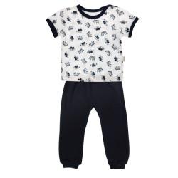 Bavlněné pyžamko Mamatti Princezna - krátký rukáv - granátové