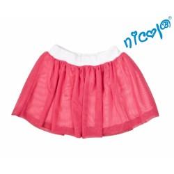 Kojenecká sukně Nicol, Mořská víla - červená