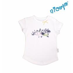 Kojenecké bavlněné tričko Nicol, Mořská víla - krátký rukáv, bílé