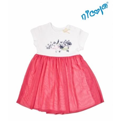 Kojenecké šaty Nicol, Mořská víla - červeno/bílé