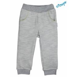 Kojenecké bavlněné tepláky, kalhoty Nicol, Boy - šedé