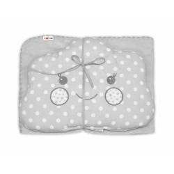 Dětská sada deka + polštářek Mráček Baby Nellys ® - bubble šedá