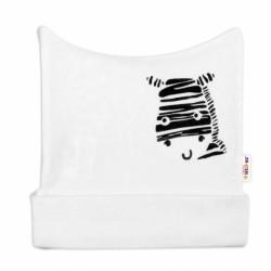 Novorozenecká čepička Baby Nellys, Zebra - bílá