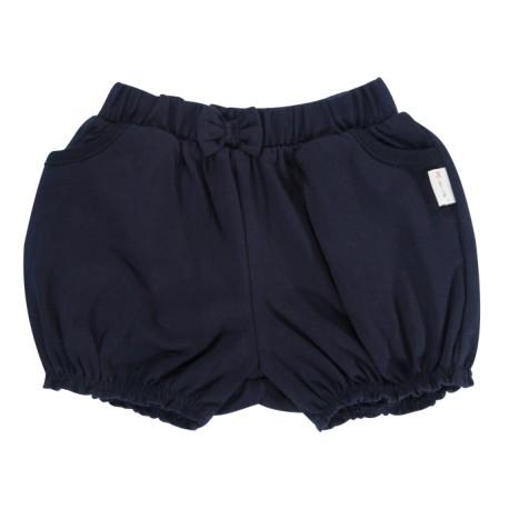 Kojenecké bavlněné kalhotky, kraťásky s mašlí Mamatti Princezna - granátové