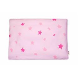 Baby Nellys  Povlak na polštářek Baby Stars, 40x60 cm - růžový