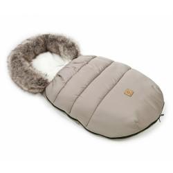 Mamo Tato Zimní fusak Lux s kožešinkou, 50 x 100cm - Béžová/ecru