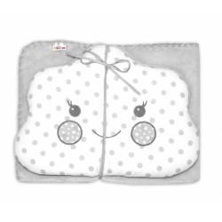 Dětská sada deka + polštářek Mráček Baby Nellys ® - bubble šedá/bílá