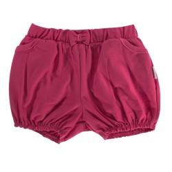 Kojenecké bavlněné kalhotky, kraťásky s mašlí Mamatti Motýlek srdíčko - vínové