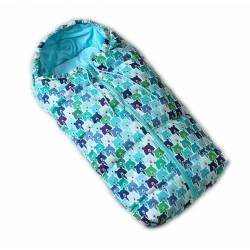 Dětský fusak Baby Nellys ARTIC LUX velvet, 95 x 45 cm - medvídci/sv. modrý