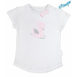 Kojenecké bavlněné tričko Nicol, Baletka - krátký rukáv, šedé