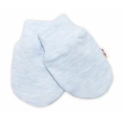 Kojenecké rukavičky Baby Nellys ® - sv. modrý  melírek