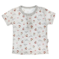 Bavlněné Polo tričko Mamatti Pirát krátký rukáv - šedé