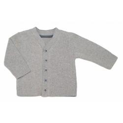 Kojenecký svetřík K-Baby - sv. šedý