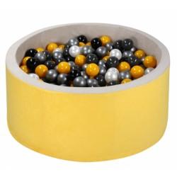 NELLYS Bazén velký pro děti 90x40cm + 200 balónků - žlutý