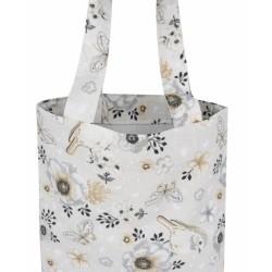 Bavlněná taška Baby Nellys Maxi pro mámy - Ptáčci béžoví