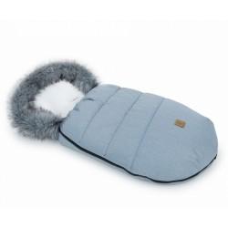 Mamo Tato Zimní fusak Lux s kožešinkou, 50 x 100cm - Šedý/ecru/bavlněný