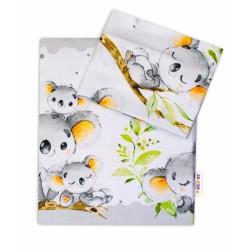 2-dílné bavlněné povlečení Baby Nellys - Medvídek Koala - šedý