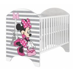 BabyBoo Dětská postýlka Disney Minnie v Paříži, 120x60cm