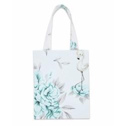 Bavlněná taška Baby Nellys Mini pro děti - Plameňák mátový