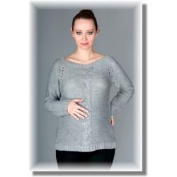Těhotenský svetřík TIA - šedý