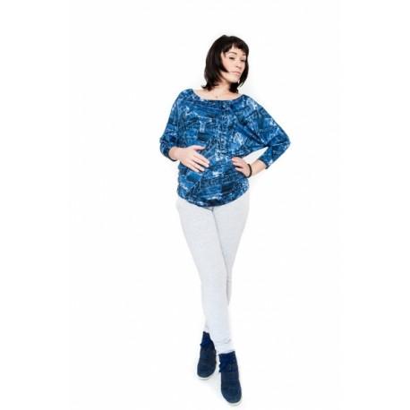Těhotenské kalhoty  Be MaaMaa - KALI sv. šedé