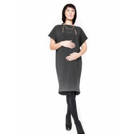 Těhotenské šaty/tunika BELLA - grafit