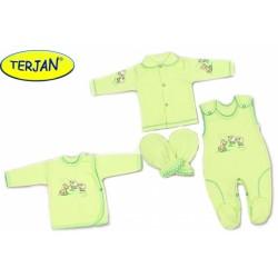 Soupravička do porodnice v krabičce Terjan - Pejsek zelený