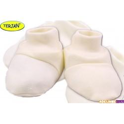 Botičky/ponožtičky BAVLNA - ecru