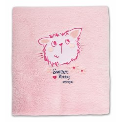 Hřejivá dečka Kočička - růžová