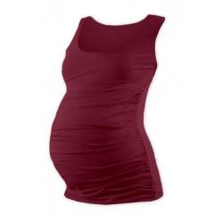 Těhotenský top JOHANKA - bordo