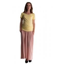 Maxi dlouhá sukně MAXINA  - pleťová