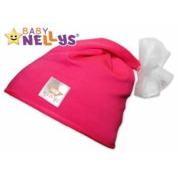 Bavlněná čepička Tutu květinka Baby Nellys ® - malinová