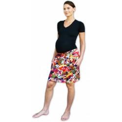 Letní těhotenská sukně s kapsami - vzor č. 03
