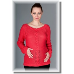 Těhotenský svetřík TIA - sytý korál