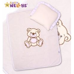 Sada do kočárku jersey Medvídek TEDDY BEAR Baby Nellys - smetanová