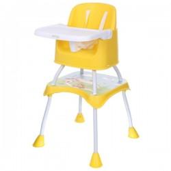 Jídelní stoleček ECO TOYS 2v1 PANDA - žlutý