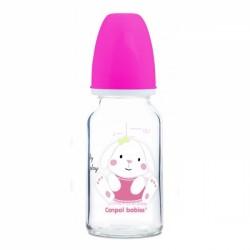 Skleněná lahvička 120 ml Canpol babies Sweet Fun - růžová