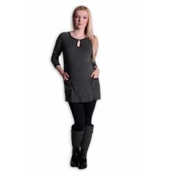 Tunika, šaty 3/4 rukáv - grafit