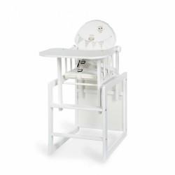 Jídelní židlička Anežka III Sovičky bílá