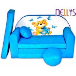 Rozkládací dětská pohovka NELLYS Míša modrý