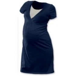 Těhotenská, kojící noční košile JOHANKA krátký rukáv - jeans