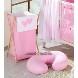 Náhradní potah kojícího polštáře - Lux růžový