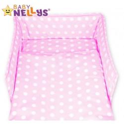 Mantinel s povlečením Baby Nellys ® - Bubble retro růžové