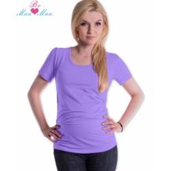 Triko JOLY bavlna nejen pro těhotné - lila/šeříkové